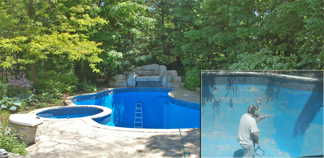 Toronto hamilton oshawa swimming pool paint removal - Swimming pools in hamilton ontario ...